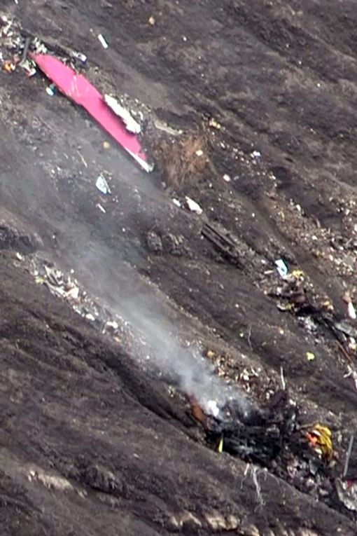 one of the larger pieces of debris from the germanwings crash